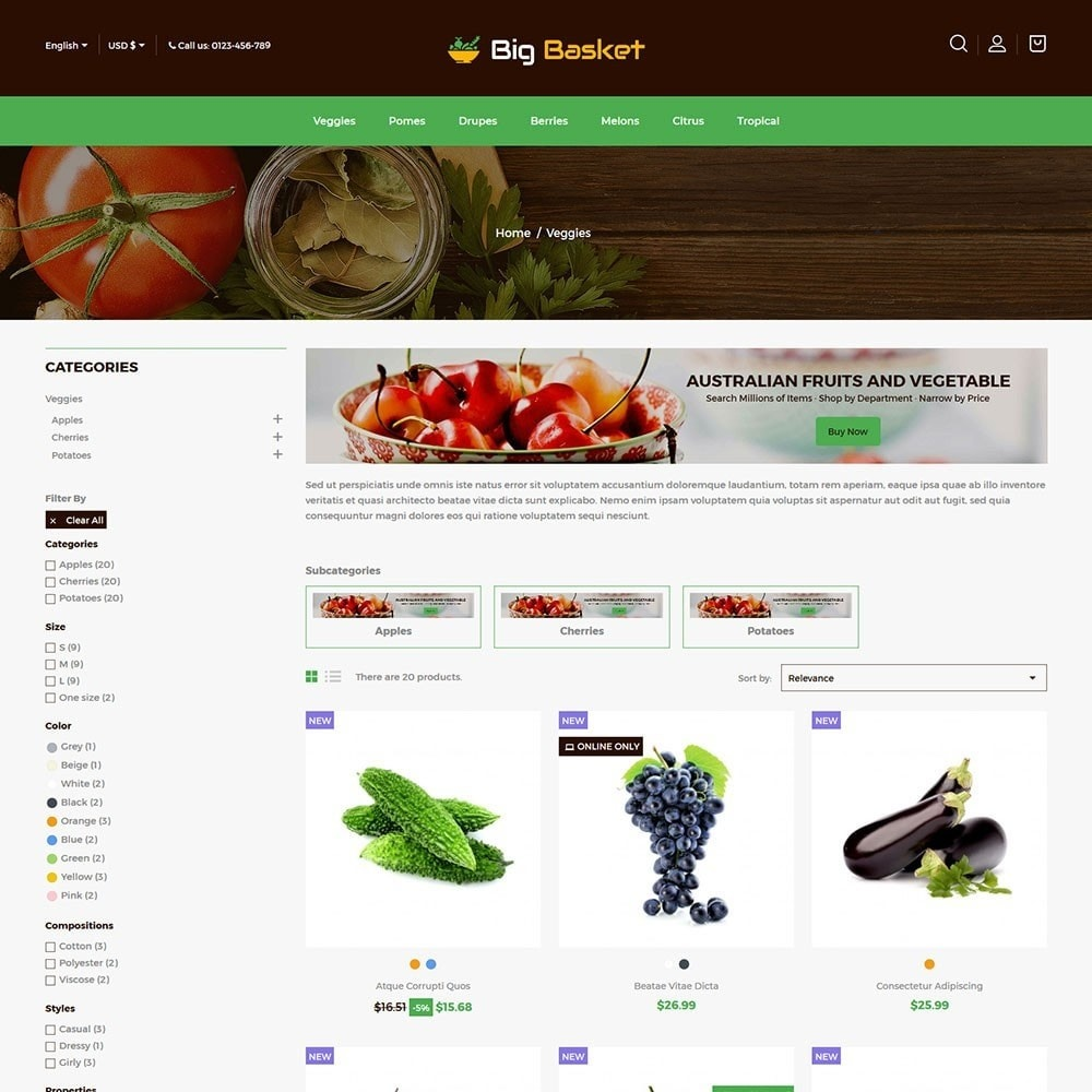theme - Food & Restaurant - Bigbasket - Food Online Store - 3