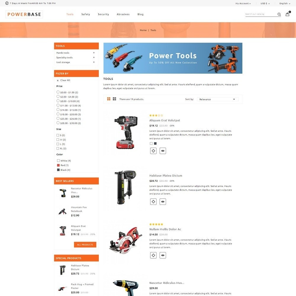 theme - Coches y Motos - Powerbase Tool Store - 4