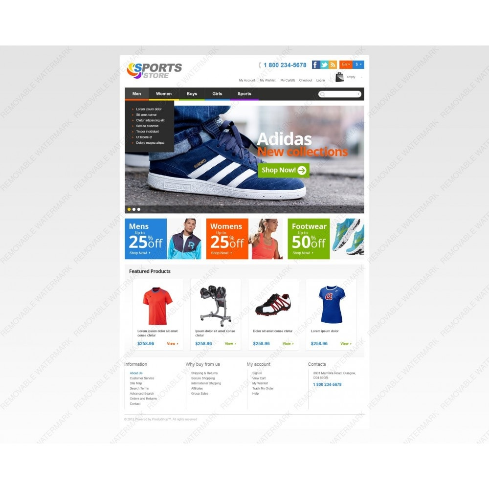 theme - Sports, Activities & Travel - Responsive Sports Store - 6