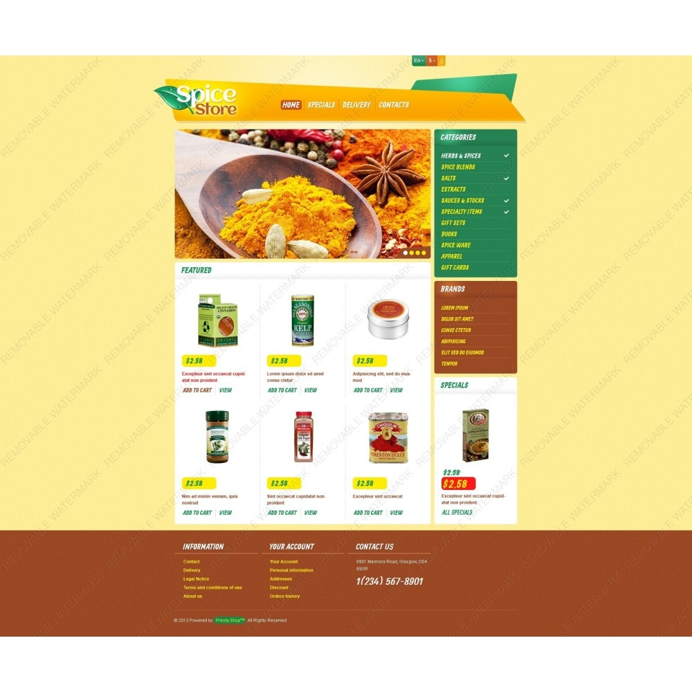 theme - Food & Restaurant - Responsive Spice Store - 6