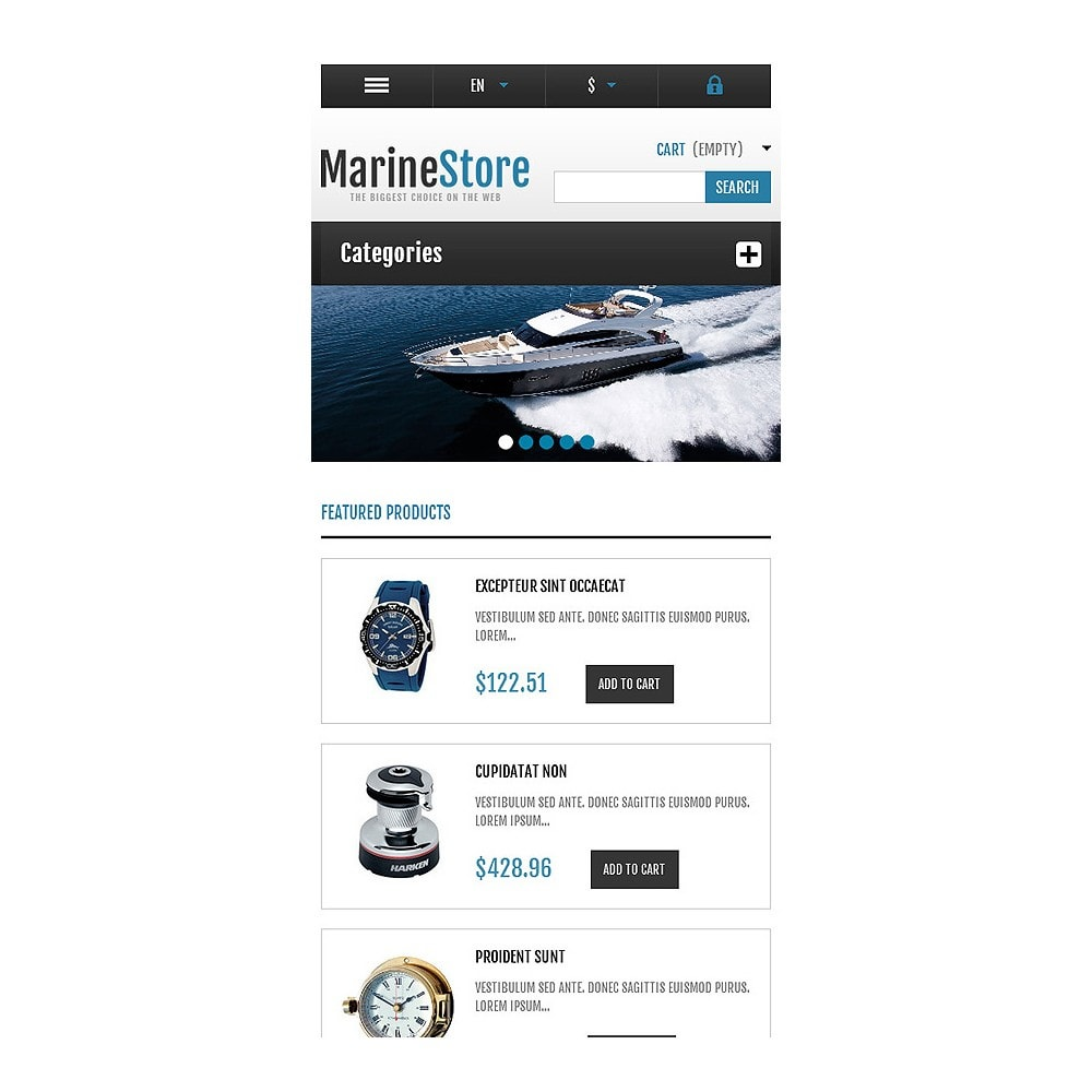 theme - Sport, Rozrywka & Podróże - Responsive Marine Store - 8