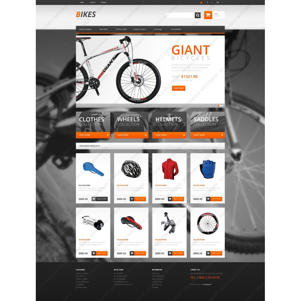 theme - Sports, Activities & Travel - Responsive Bikes Store - 3