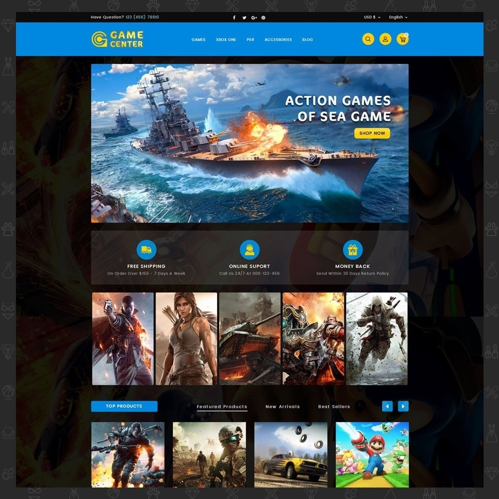 theme - Спорт и Путешествия - Game center Online Store - 2