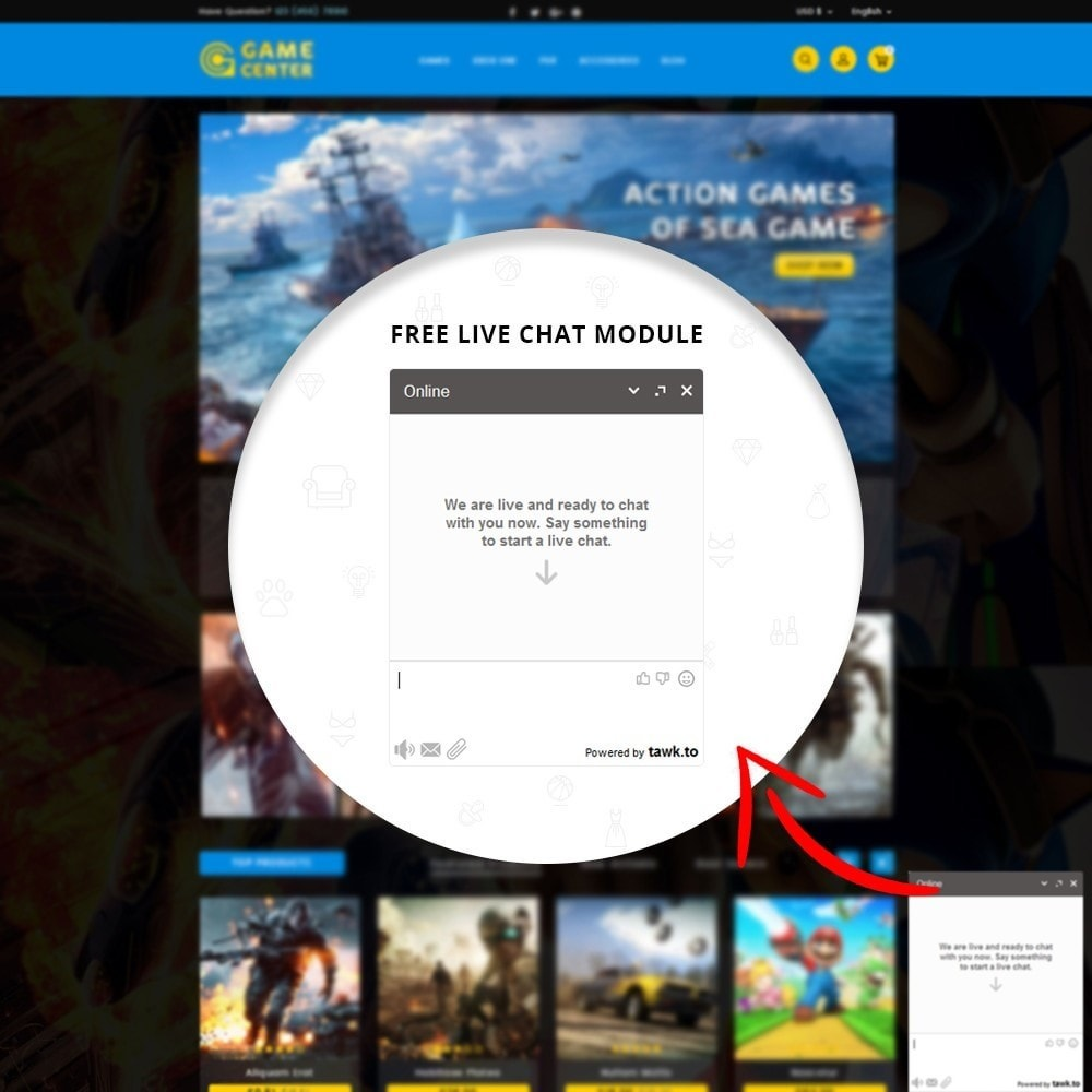theme - Sport, Loisirs & Voyage - Game center Online Store - 8
