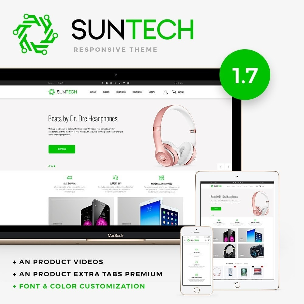 theme - Электроника и компьютеры - Suntech - High-tech Shop - 1