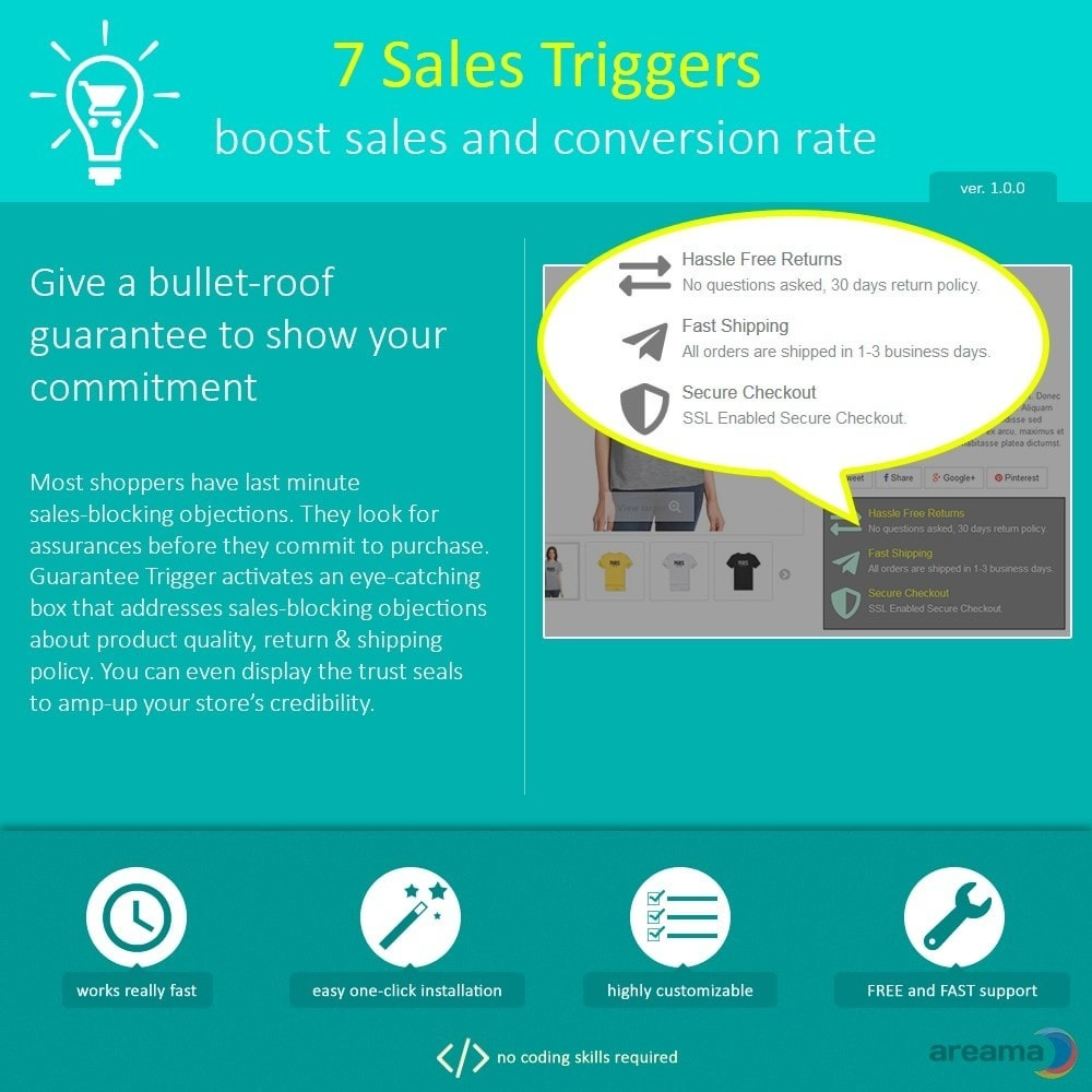 module - Informaciones adicionales y Pestañas - 7 Sales Triggers - boost sales and conversion rate - 8