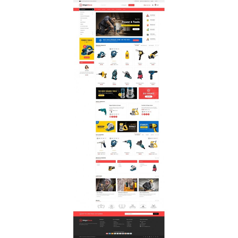 theme - Elektronica & High Tech - Mega Power Tools Store - 2