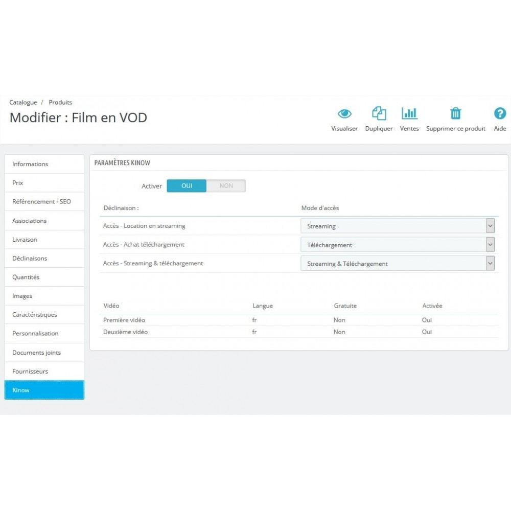 module - Produits virtuels (téléchargeables) - Kinow - Plateforme de vidéo à la demande (VOD/sVOD) - 6