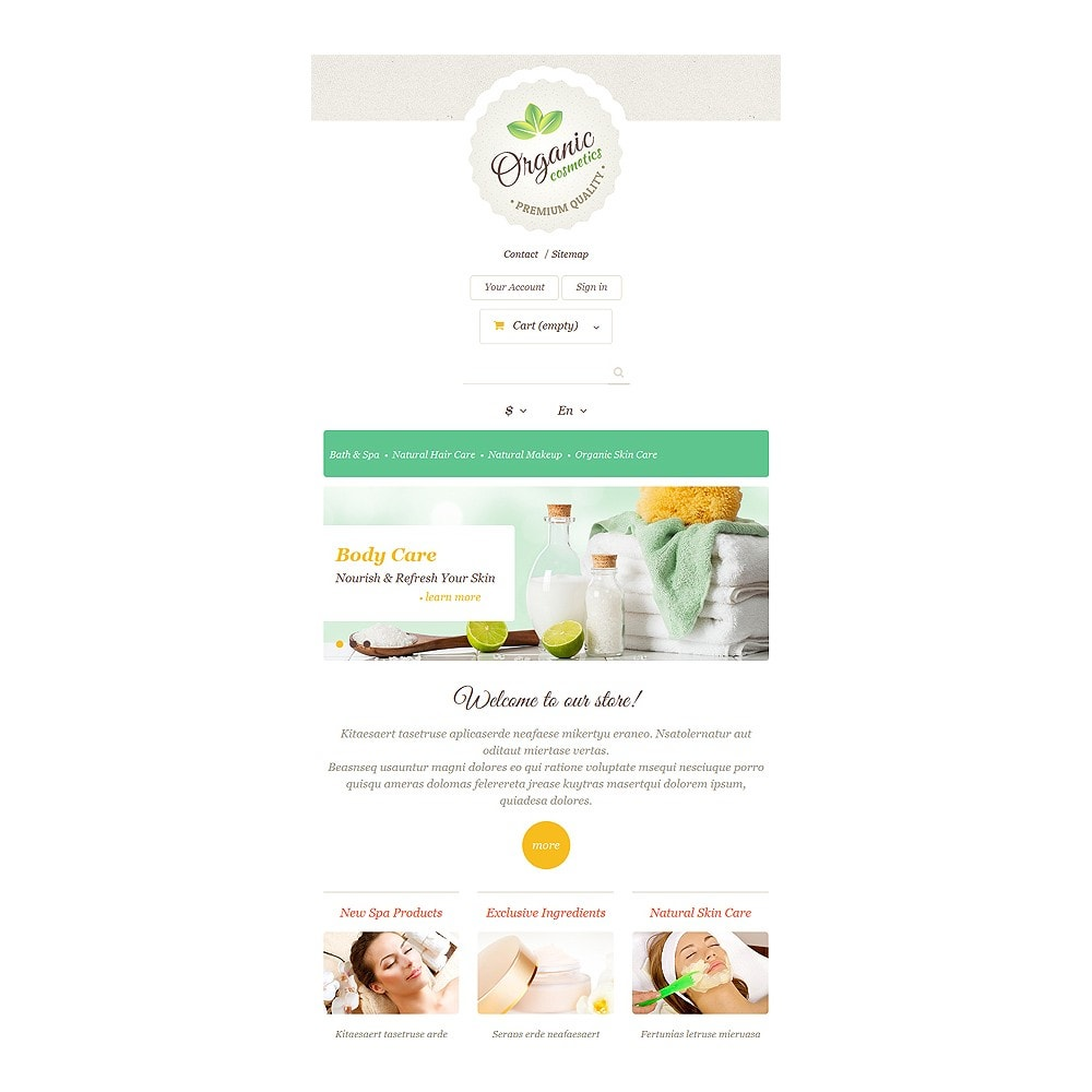 theme - Moda & Calzature - Organic Skin Care - 7