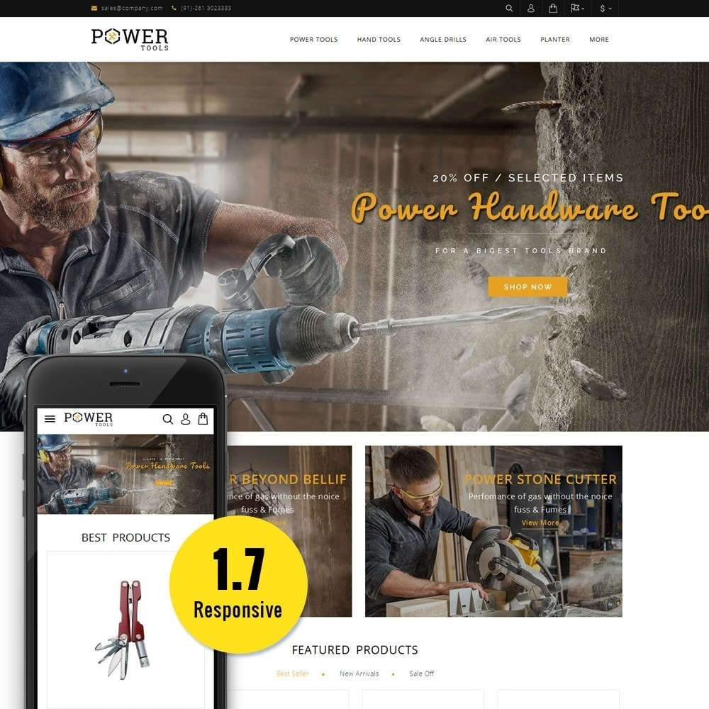 theme - Automotive & Cars - PowerTools Store - 1