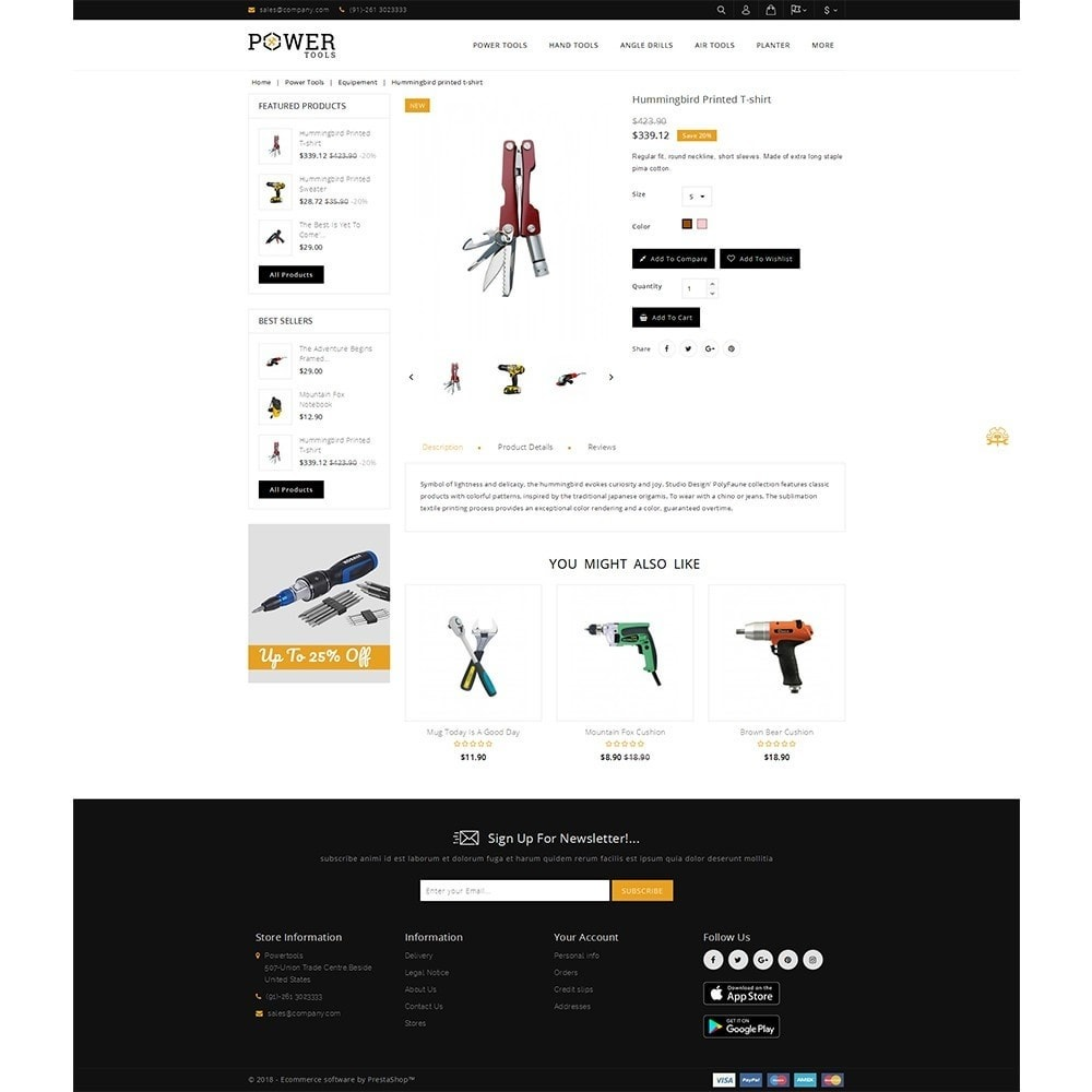 theme - Automotive & Cars - PowerTools Store - 5