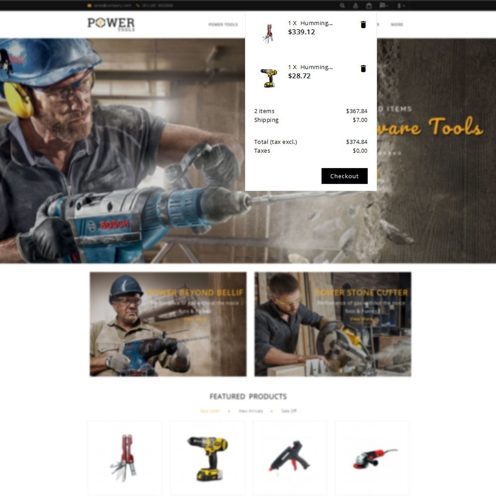 theme - Automotive & Cars - PowerTools Store - 8