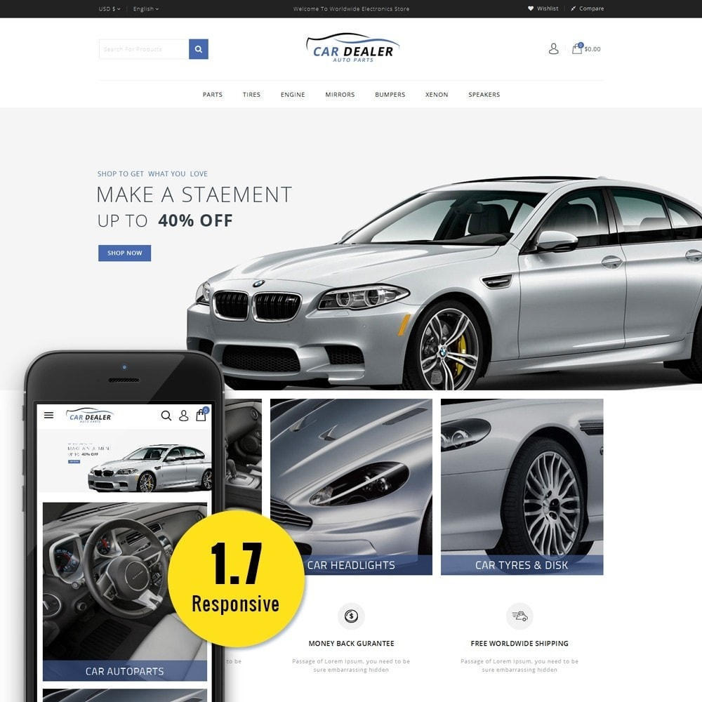 theme - Carros & Motos - Car Dealer Store - 1