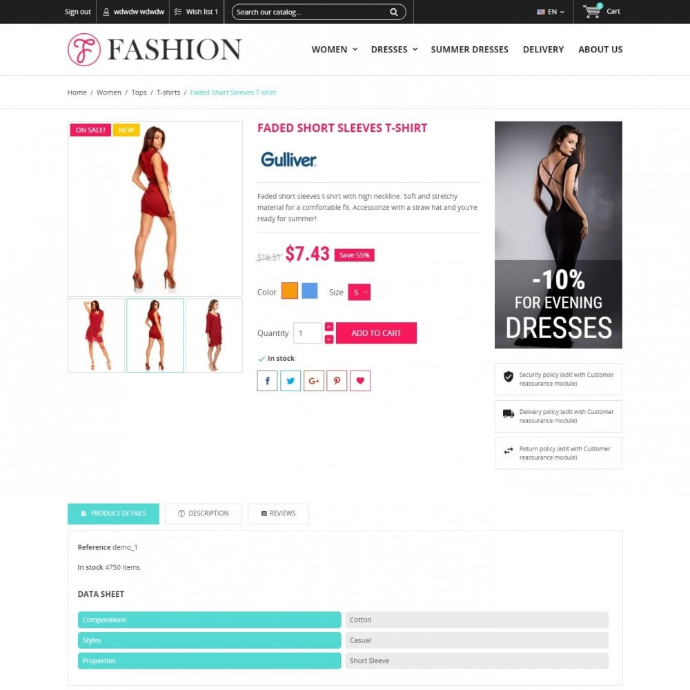 theme - Fashion & Shoes - Clothing - Fashion Store - 4