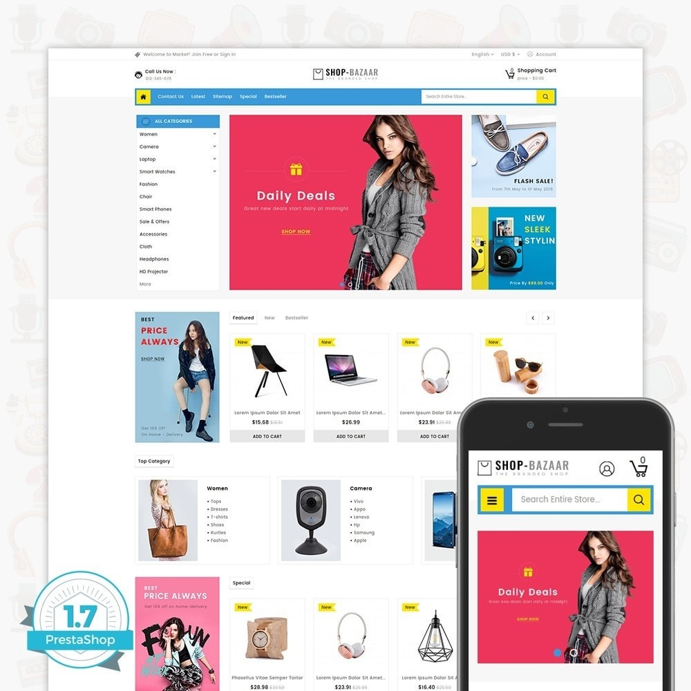 theme - Elektronika & High Tech - ShopBazaar - Largest Marketshop - 1