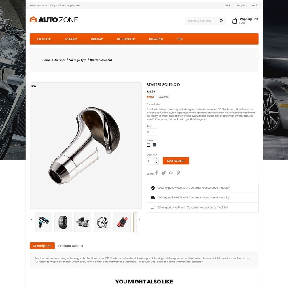 theme - Coches y Motos - Autozone - Auto Store - 5