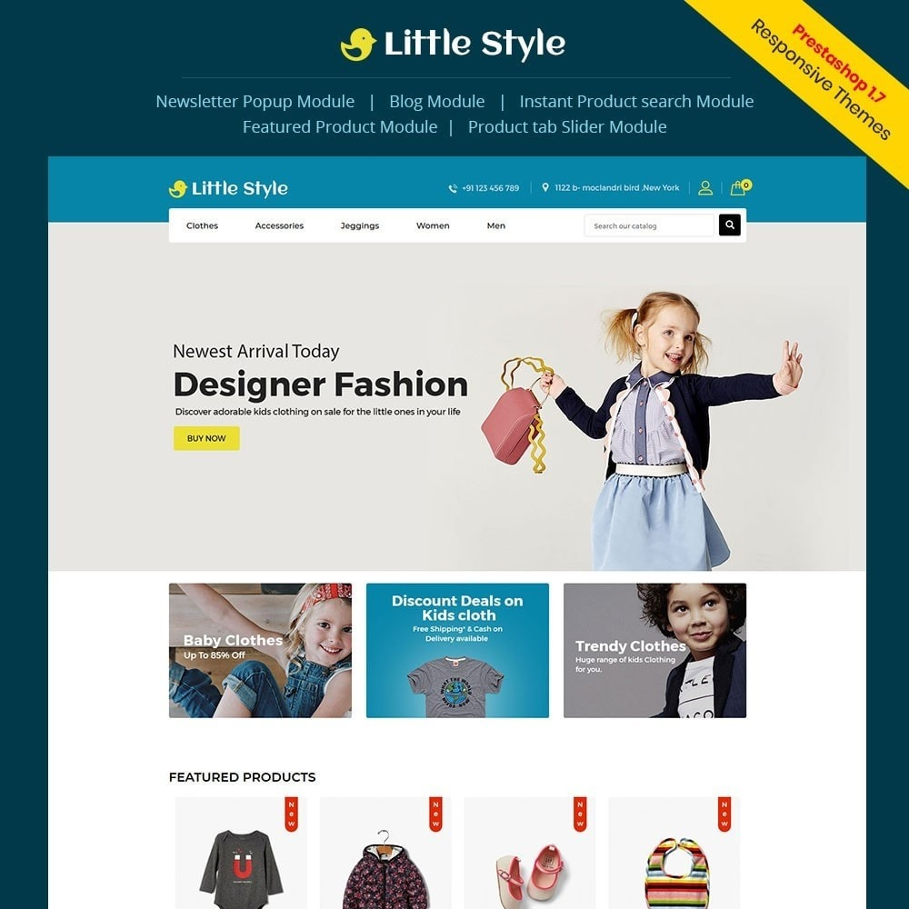 theme - Mode & Chaussures - Little Style Kids Store - 1