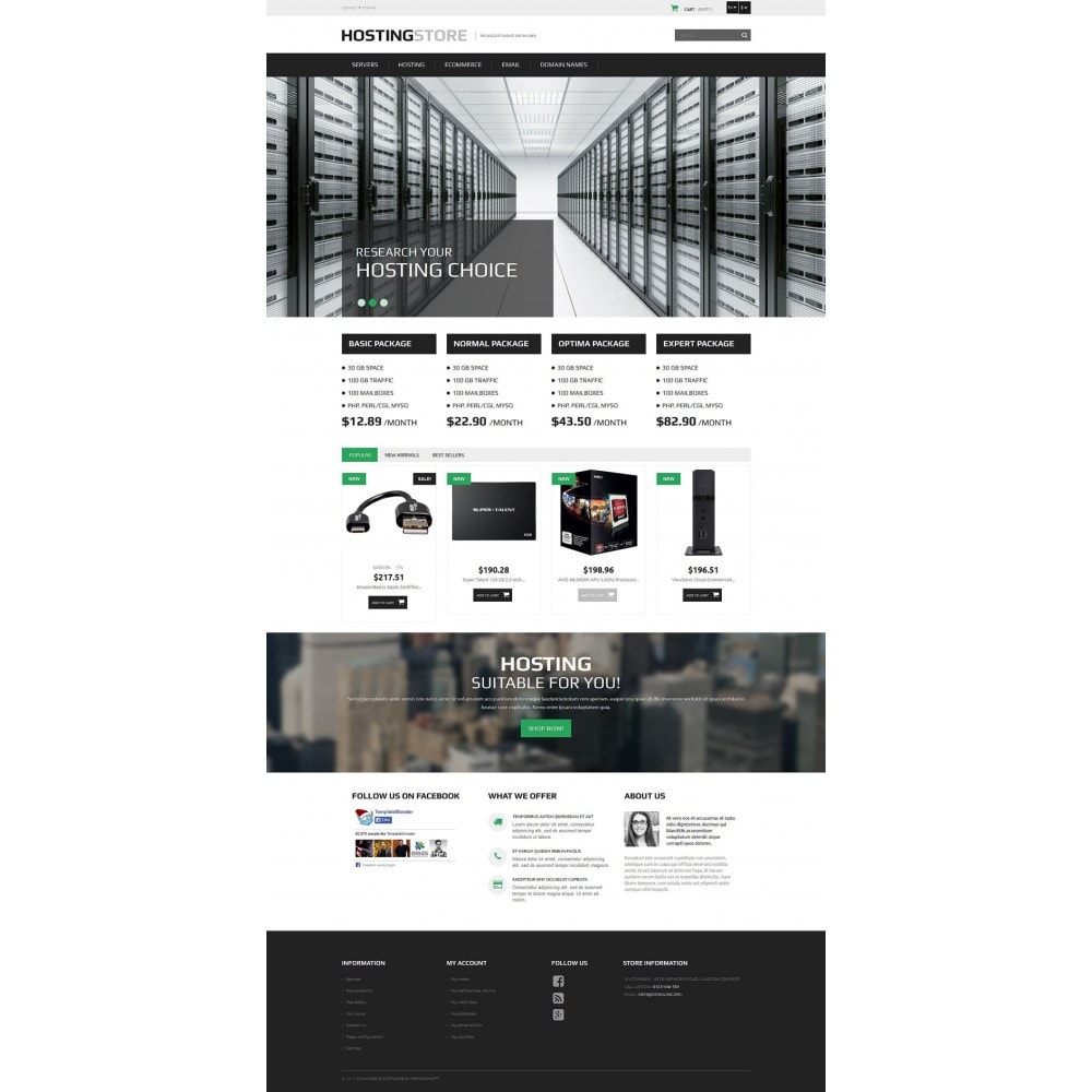 theme - Elettronica & High Tech - Hosting - 2
