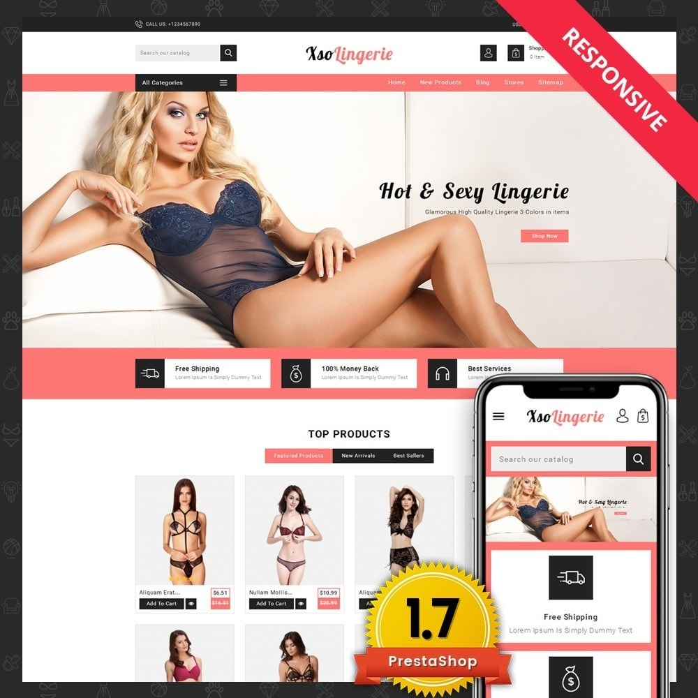theme - Lingerie & Adulti - XSO Lingerie Store - 1