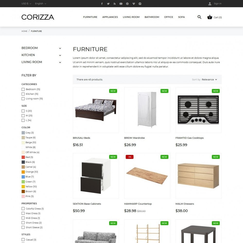 theme - Home & Garden - Corizza - 8
