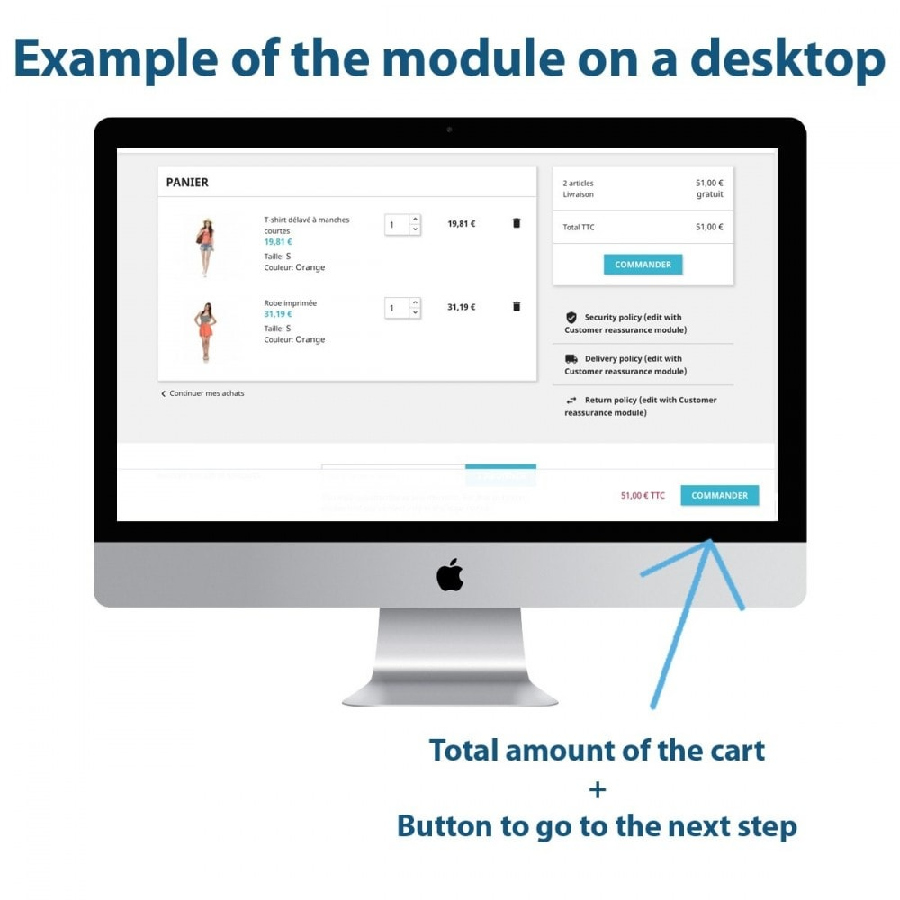 module - Registration & Ordering Process - Sticky Button in Cart - 1