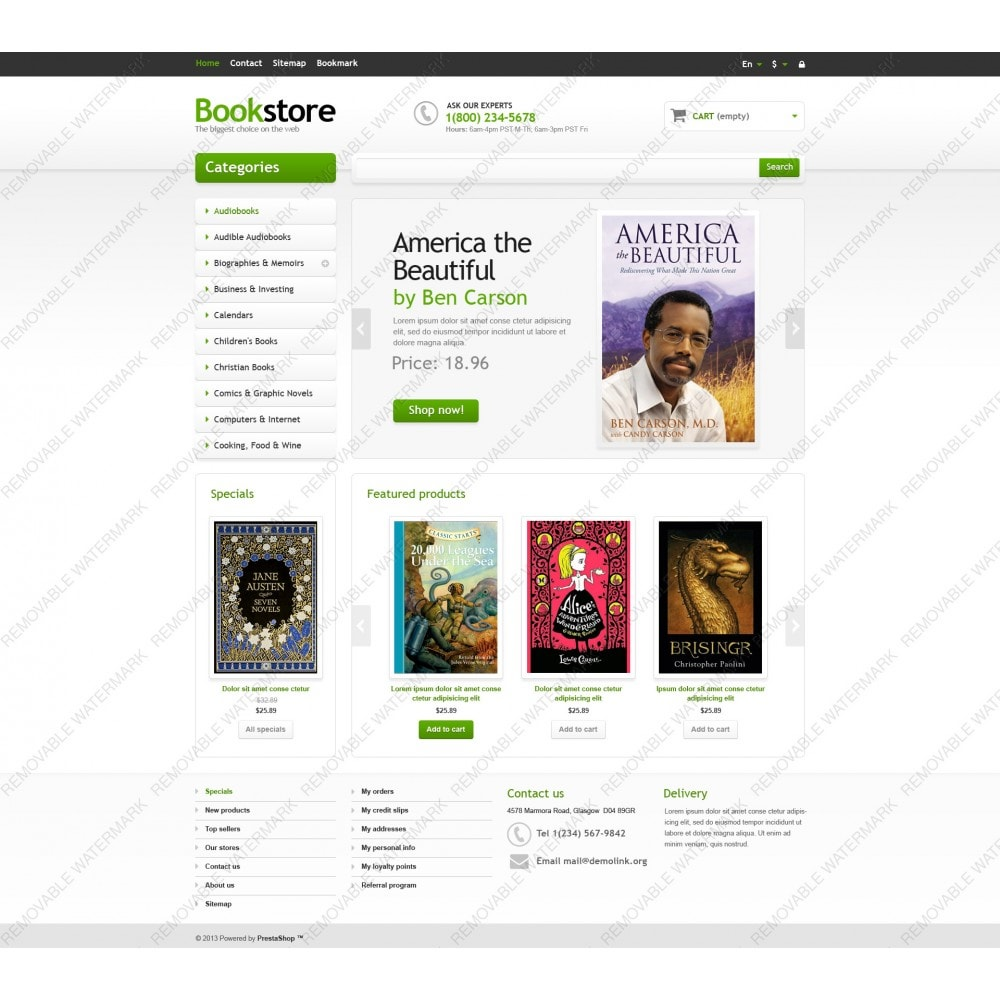 theme - Art & Culture - Responsive Books Store - 5
