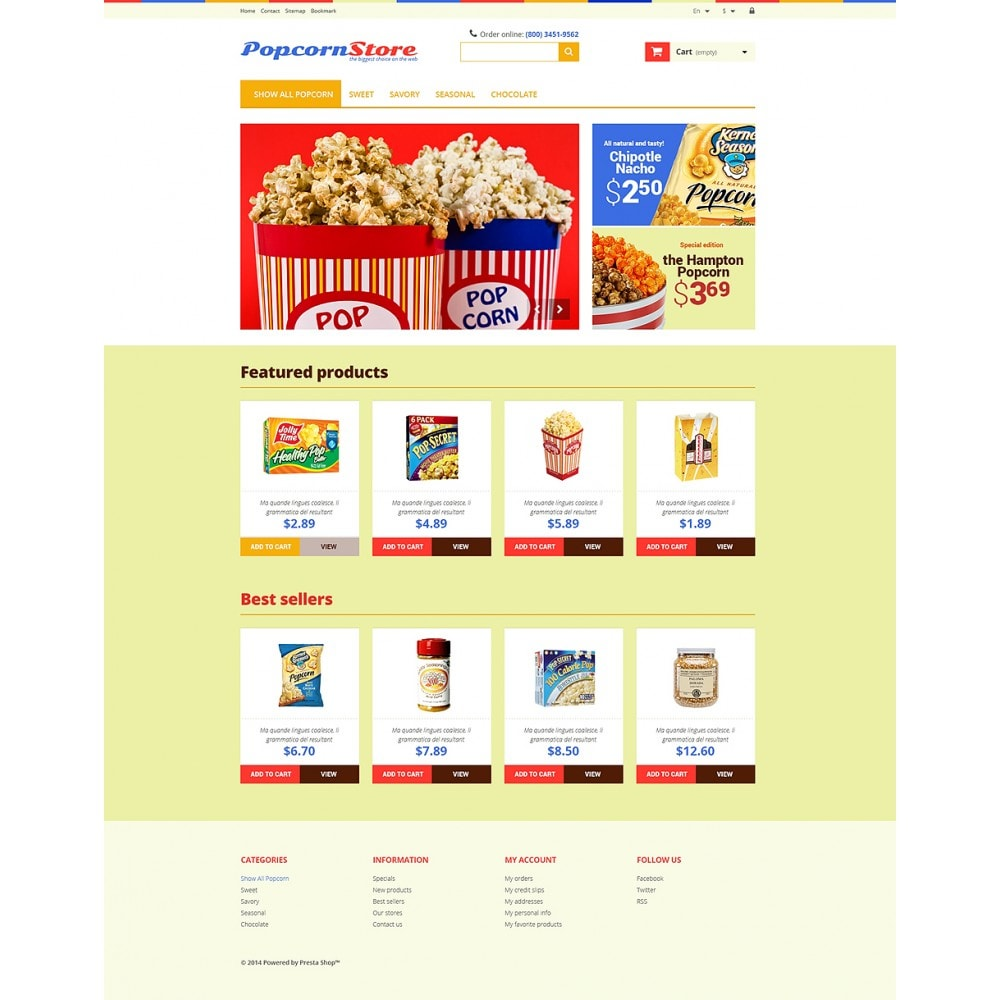 theme - Lebensmittel & Restaurants - Salt  Sweet Popcorn - 2