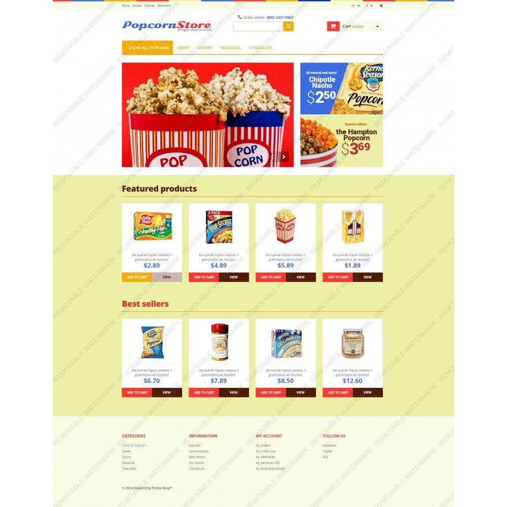 theme - Lebensmittel & Restaurants - Salt  Sweet Popcorn - 3