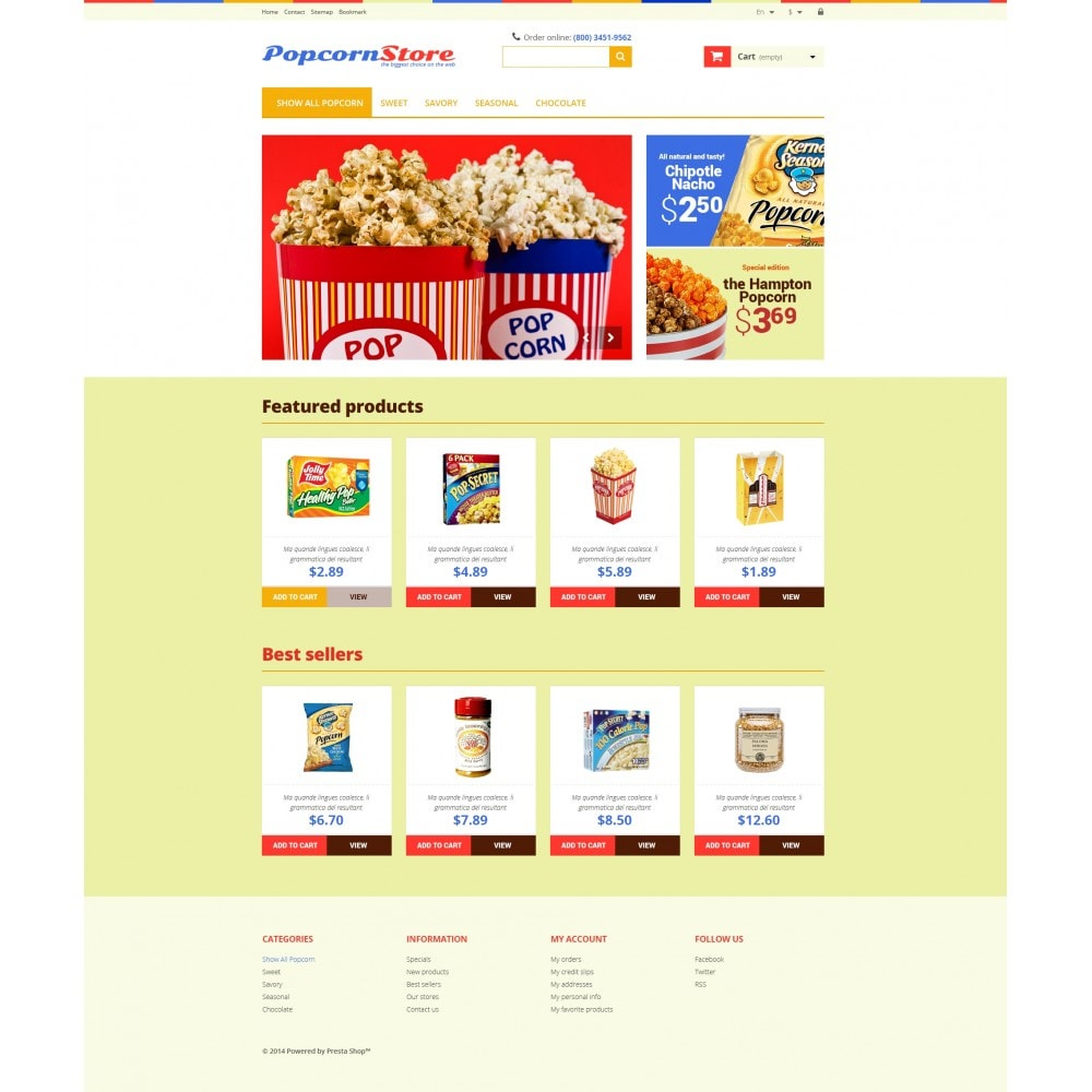 theme - Lebensmittel & Restaurants - Salt  Sweet Popcorn - 4