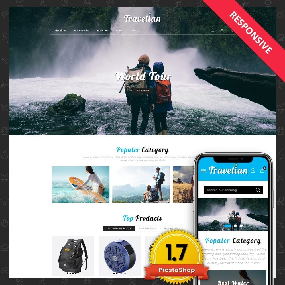theme - Sport, Loisirs & Voyage - Travelian - Travel Store - 1