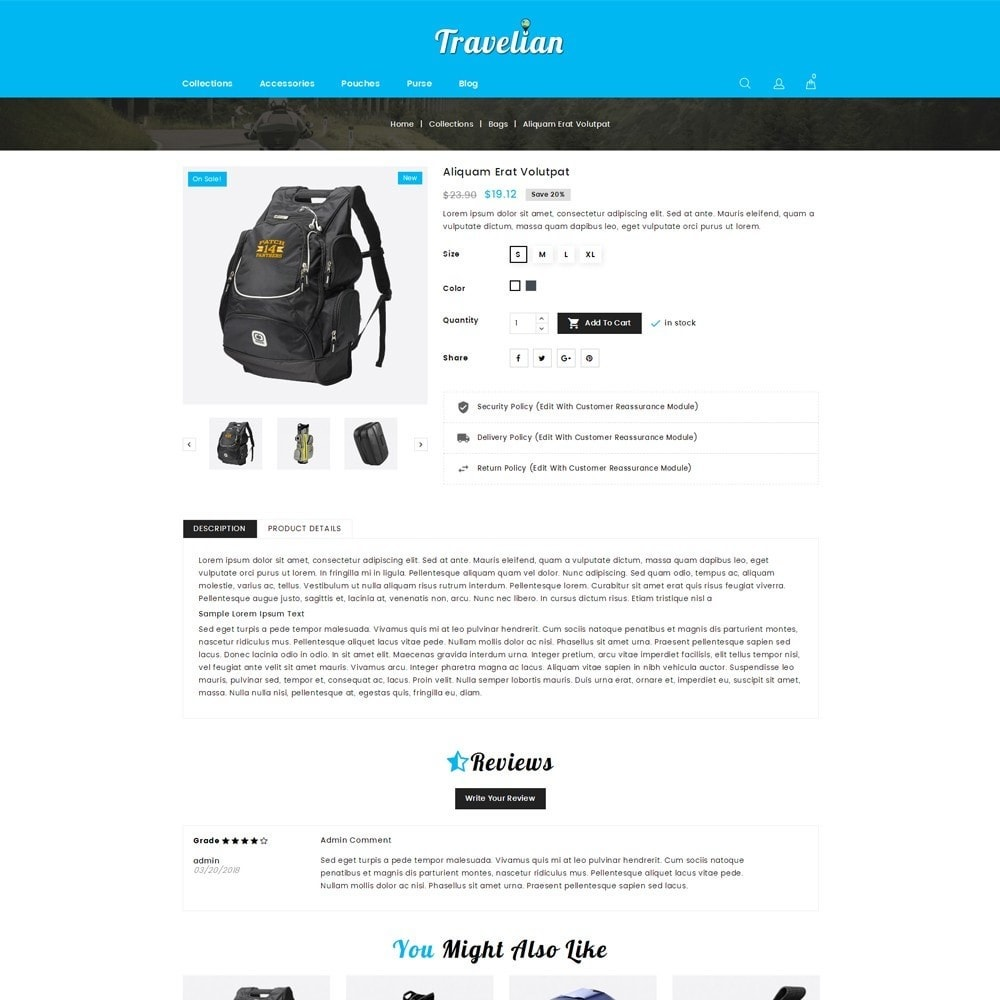 theme - Sport, Loisirs & Voyage - Travelian - Travel Store - 5