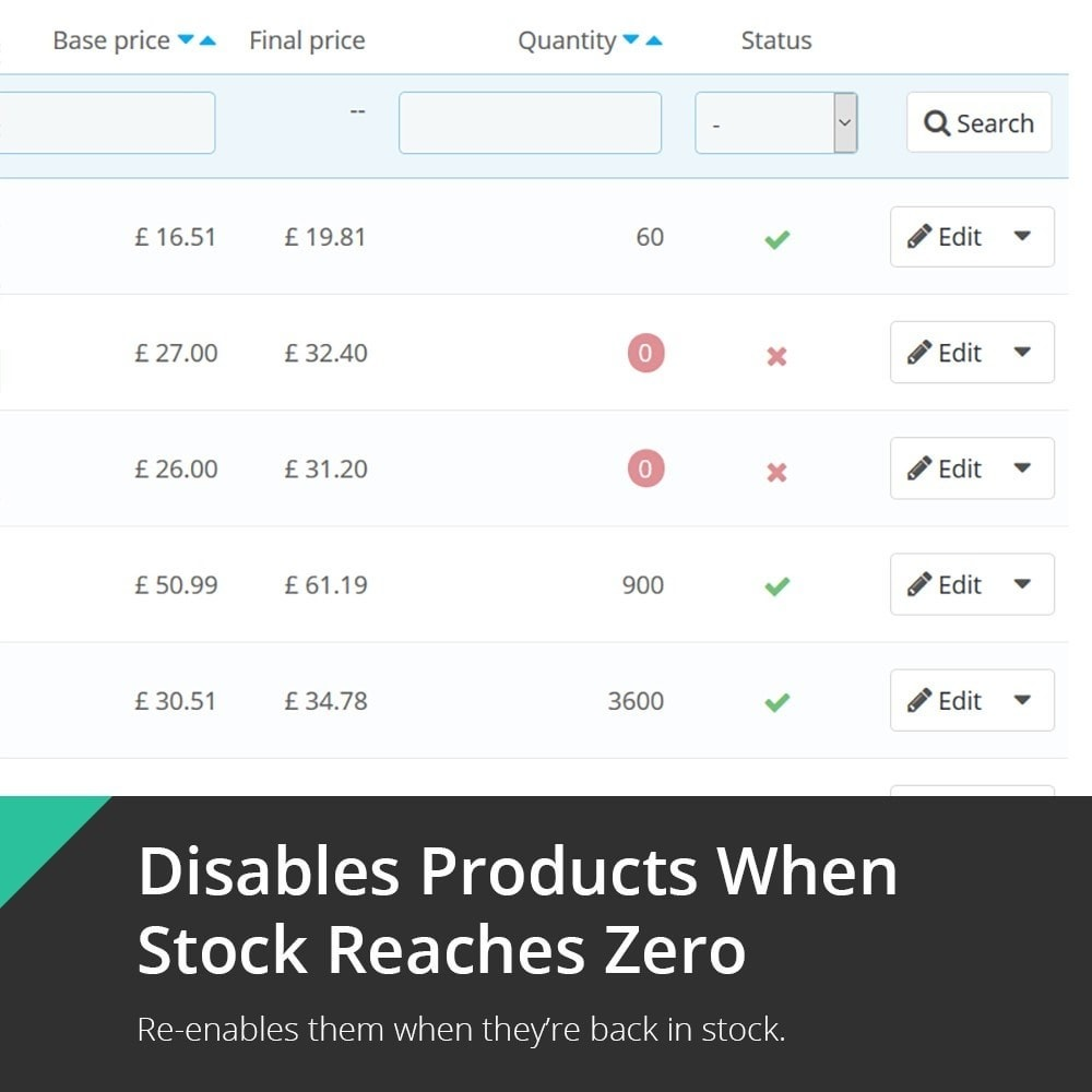 module - Gestión de Stock y de Proveedores - Unavailable Product & Combination Disabler - 1