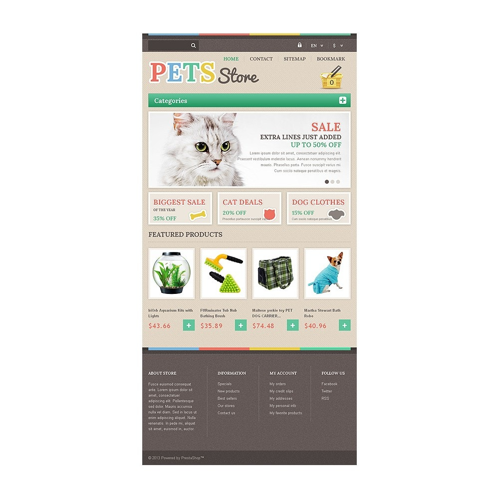 theme - Animaux - Responsive Pets Store - 7