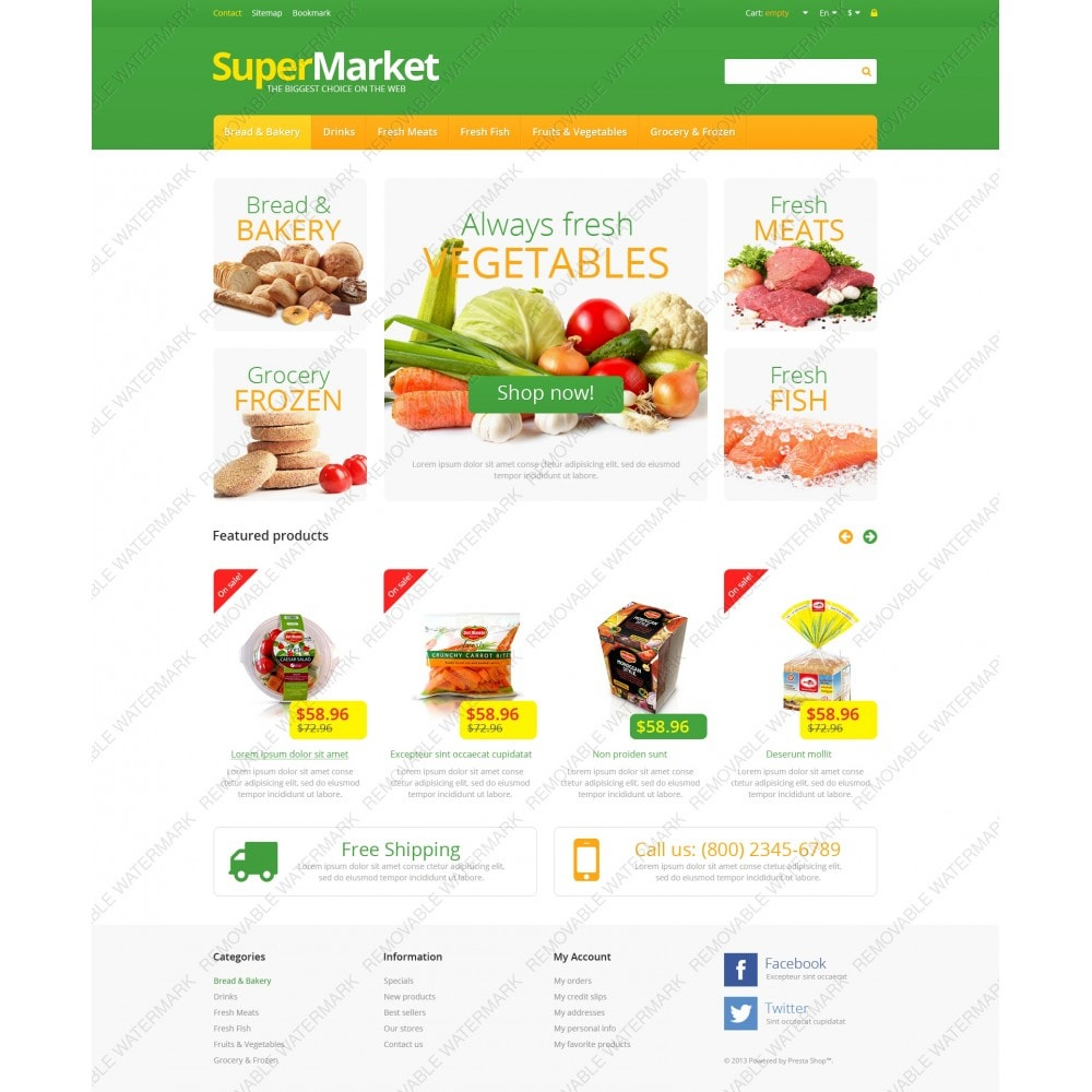 theme - Food & Restaurant - Responsive Supermarket - 3