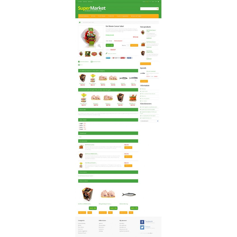 theme - Food & Restaurant - Responsive Supermarket - 6
