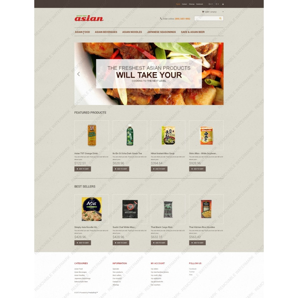 theme - Food & Restaurant - Asian Grocery - 3