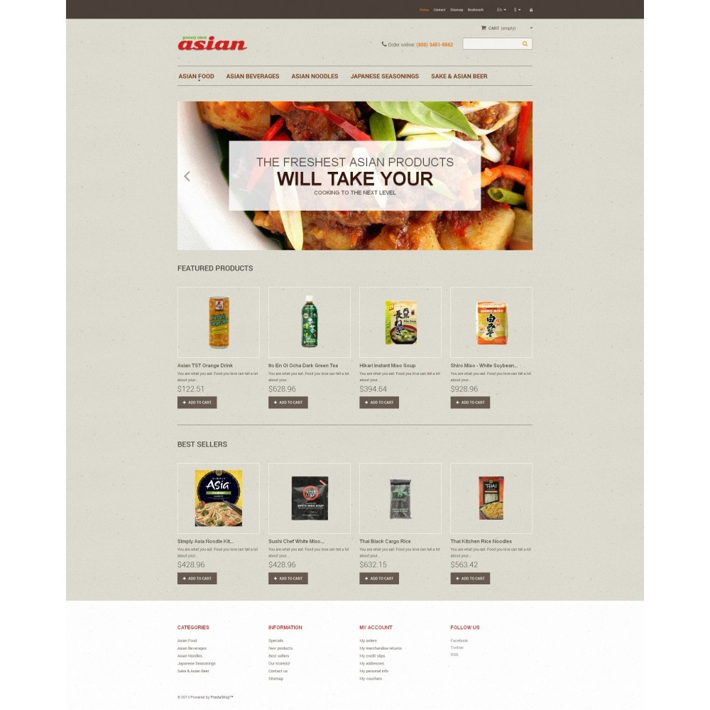theme - Food & Restaurant - Asian Grocery - 4