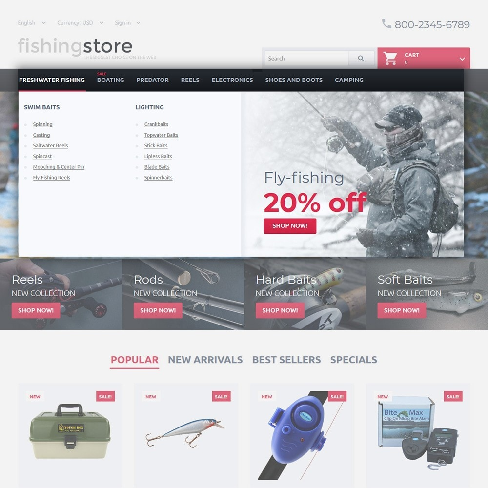 theme - Sports, Activities & Travel - Fishing Store - The Biggest Choice On The Web - 4