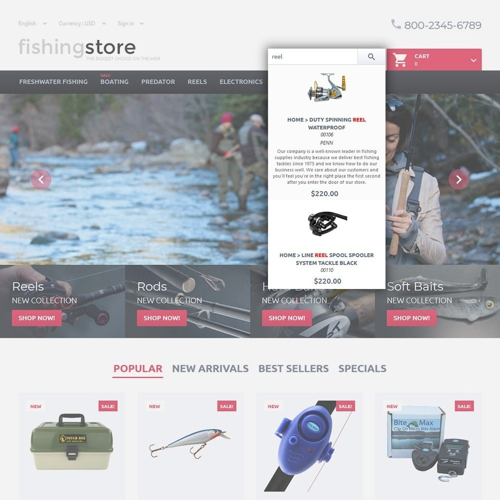 theme - Sport, Rozrywka & Podróże - Fishing Store - The Biggest Choice On The Web - 6