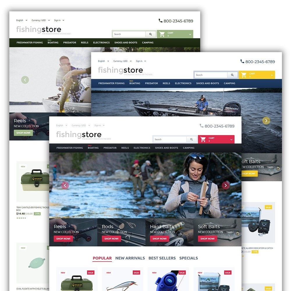 theme - Sport, Attività & Viaggi - Fishing Store - The Biggest Choice On The Web - 2