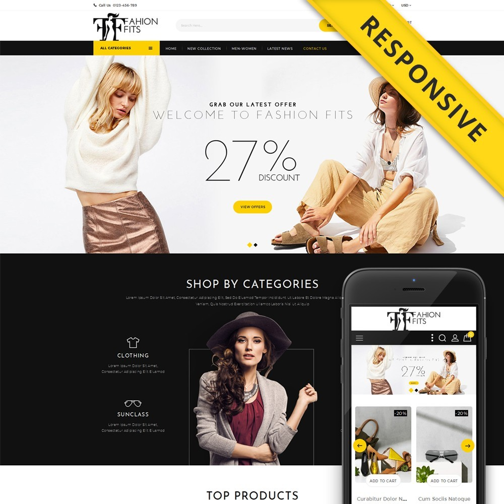 theme - Moda y Calzado - Fashion Fits Online Store - 1