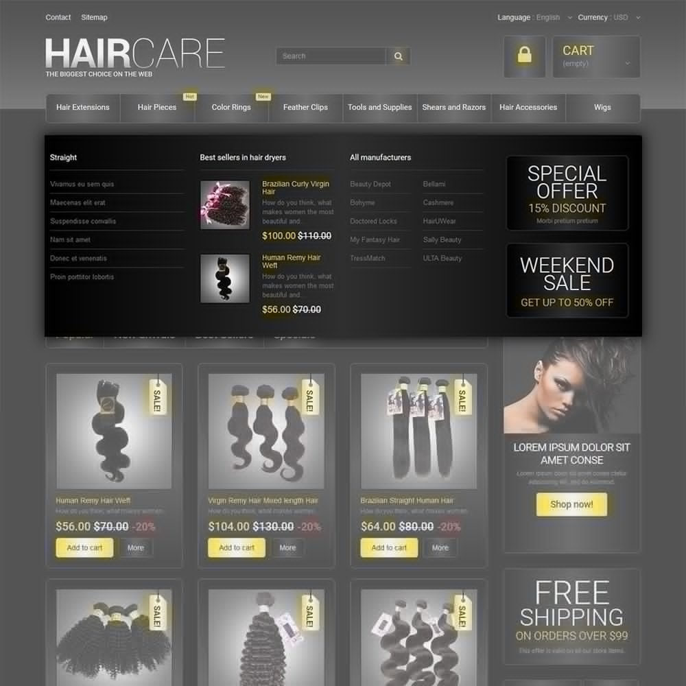 theme - Мода и обувь - HairCare - The Biggest Choice On The Web - 5