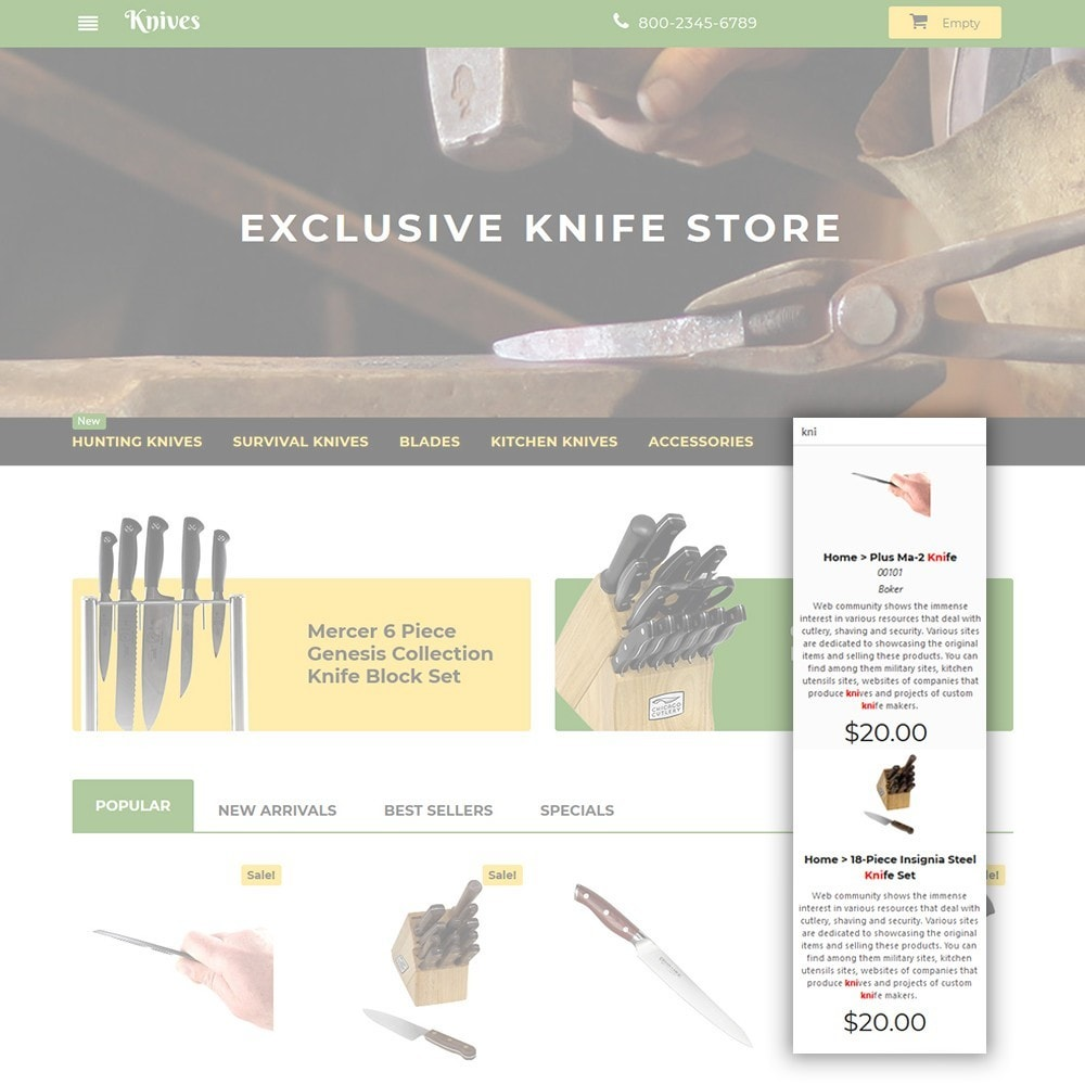 theme - Искусство и Культура - Knives - Housewares Store - 6