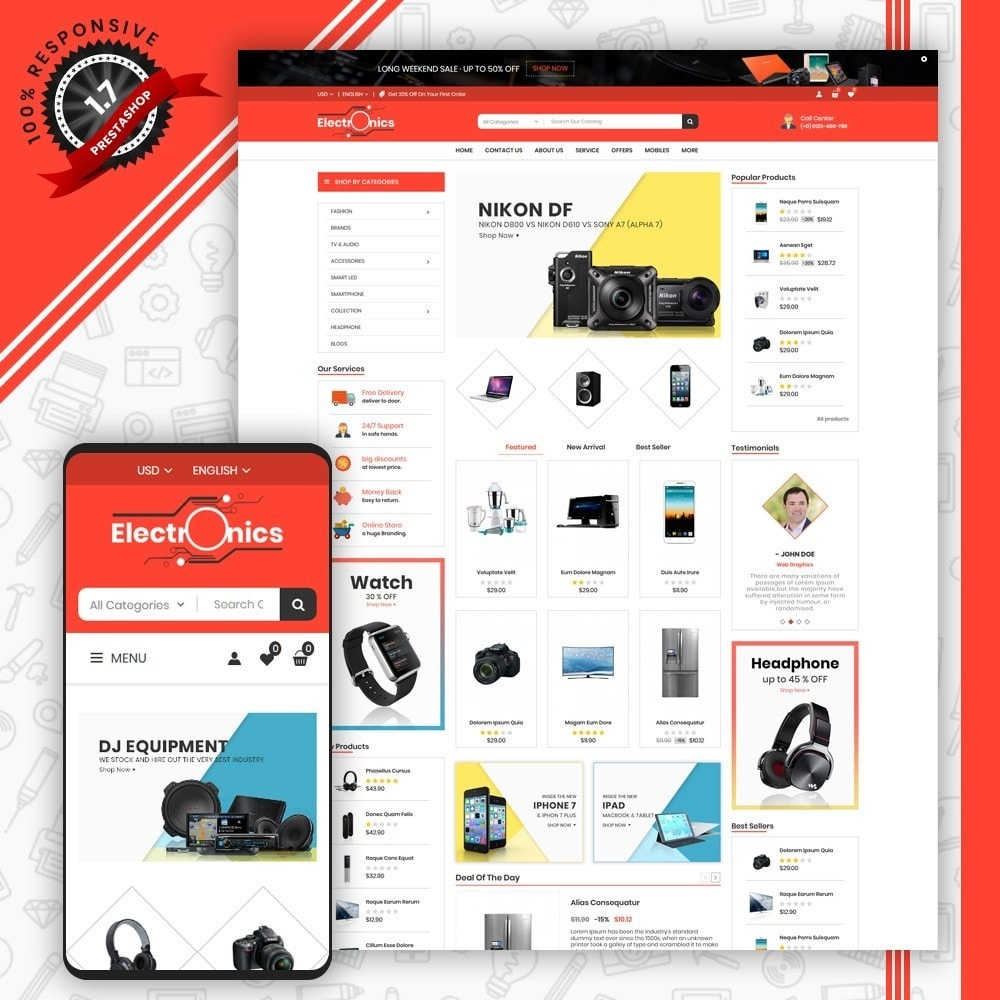 theme - Elettronica & High Tech - Mega Electronic Shop - 1