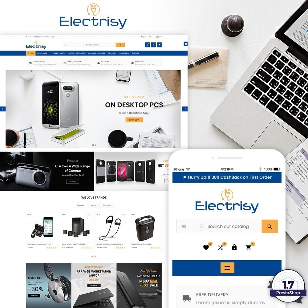 theme - Elektronica & High Tech - Electrisy – Electronic and Big Super Store - 1
