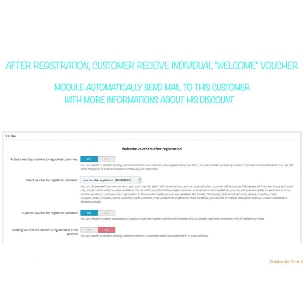 module - Promotion & Geschenke - Auto Gutscheinversand nach Registrierung/Bestellung - 1