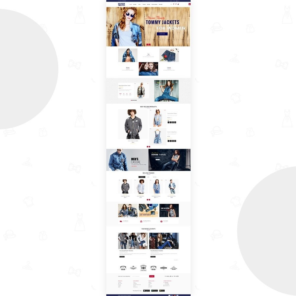theme - Мода и обувь - Hilfiger Denim  Fashion Cloth Brand Super Store - 3