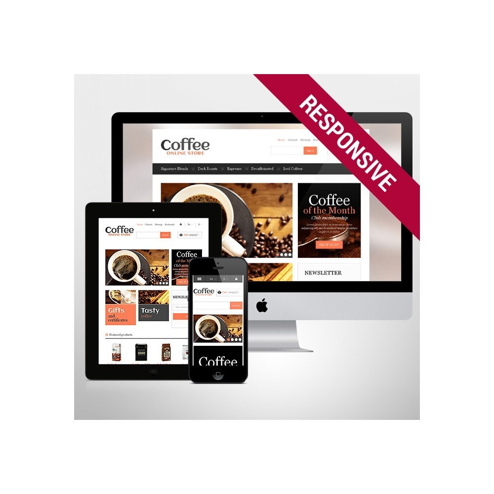 theme - Food & Restaurant - Responsive Coffee Store - 1