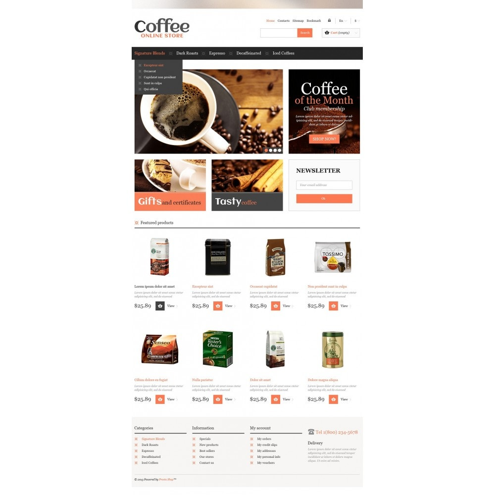 theme - Food & Restaurant - Responsive Coffee Store - 2