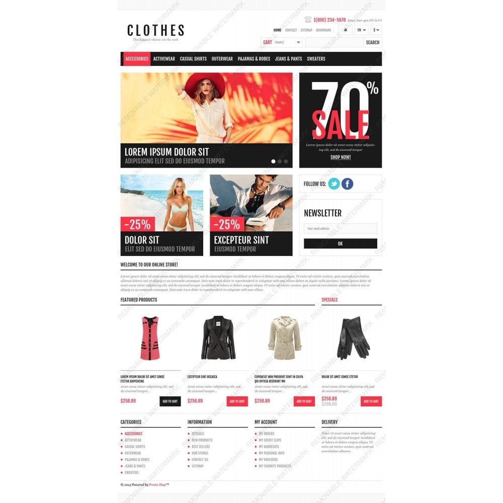 theme - Mode & Chaussures - Responsive Clothing Shop - 3